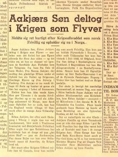 Skive Folkeblad 1945 Aakjær